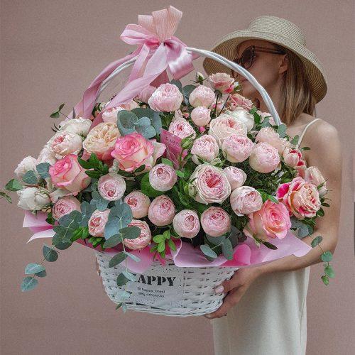 Корзина с цветами №10 купить в Бресте