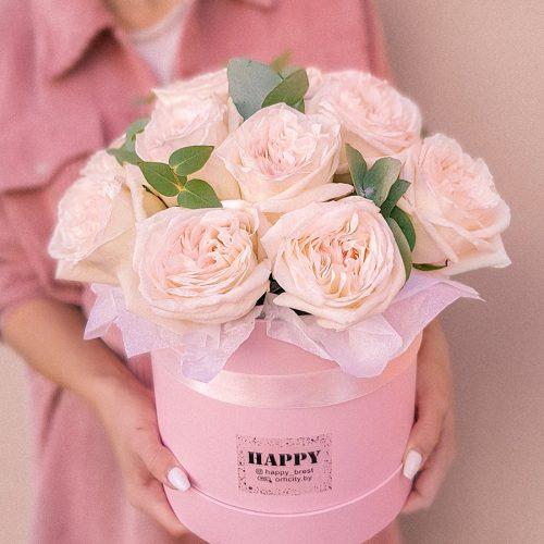 Коробка с цветами №7 купить в Бресте в интернет магазине ОРХИДЕЯ