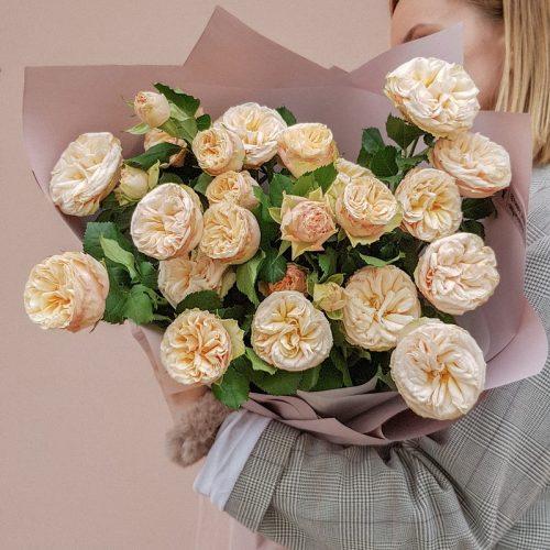 Моно букет из пионовидных роз №141 в Бресте
