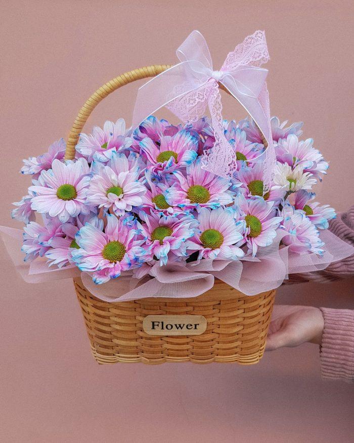 ромашковидная хризантема купить в Бресте. Доставка в Бресте букет цветов